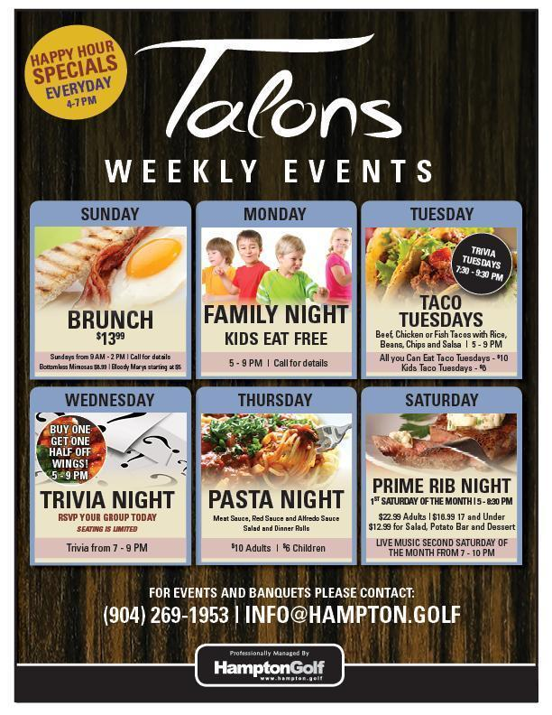 EH Talons Weekly Events EMAIL 7
